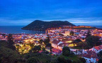 Azores at night