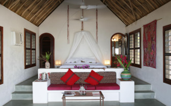 Picture of a villa bedroom at Matachica Beach Resort