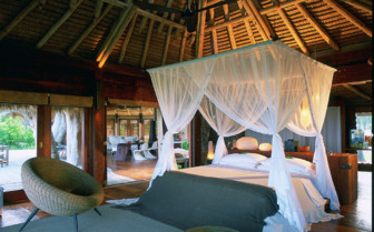 Picture of a villa bedroom on North Island