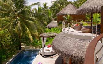 The pool at W Retreat & Spa Maldives