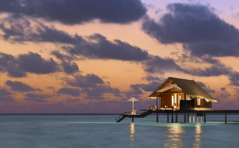 Water villa at Reethi Rah, luxury hotel in the Maldives