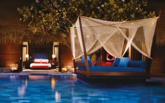 The exterior at Reethi Rah, luxury hotel in the Maldives