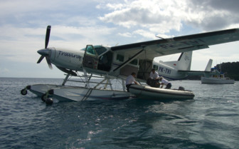 Picture of Sea Plane Arriving at Amanwana