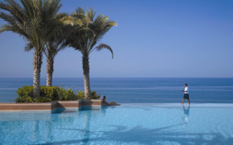 The infinity pool at the hotel