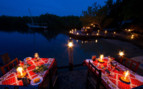 Picture of night time dining at Chole Mjini