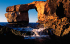 Picture of an arch on the Gozo coast