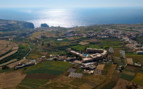 Aerial view of the coast of Gozo