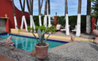The pool at Posada de las Flores, luxury hotel in Mexico