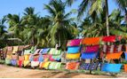 colourful sarongs drying