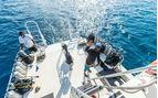 Turneffe Island Resort dive boat