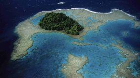 Aerial of Atoll, Papua New Guinea