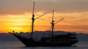 Liveaboard at Sunset, Komodo, Indonesia