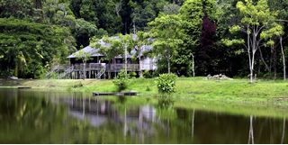 Borneo village house