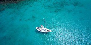 Boat in Ocean, Caribbean