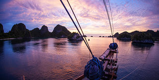 liveaboard diving at sunrise