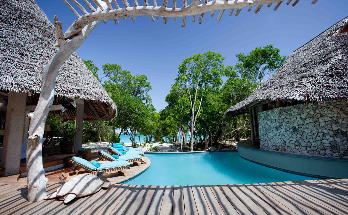 Vamizi island lodge mozambique original diving Holiday cottages with private swimming pool