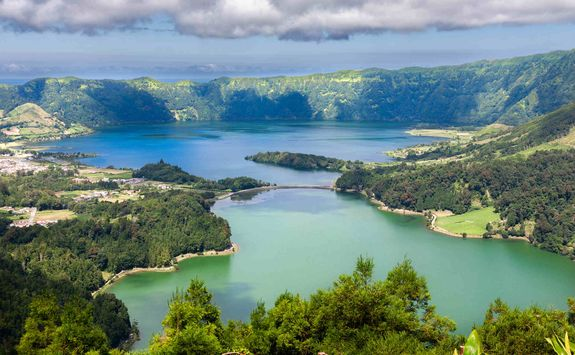 Lake on Sao Miguel island