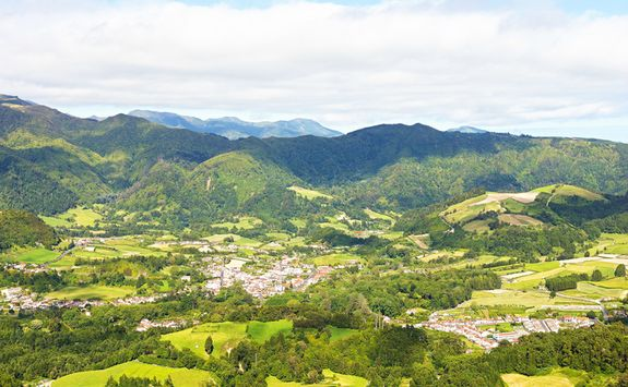 Green hills of Sao Miguel island