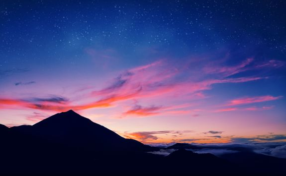 Night sky on Pico Island