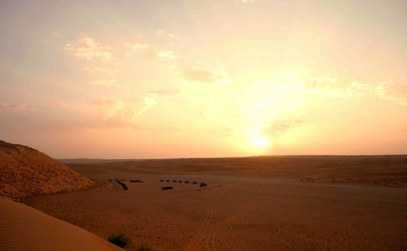 Sunset at Wahiba Sands Camp