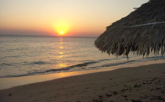 beach at sunset in Mozambique