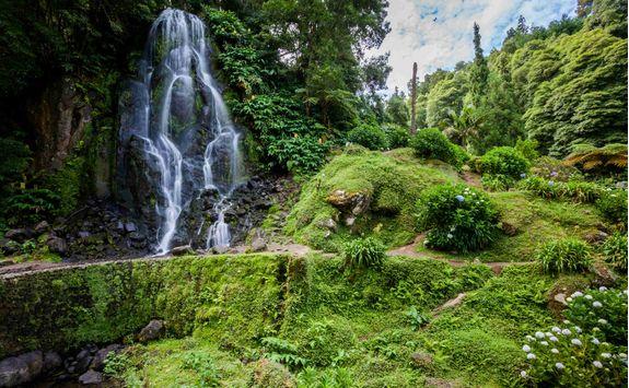 Waterfall Sao Miguel island