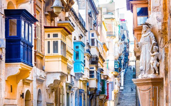 old streets of Valletta