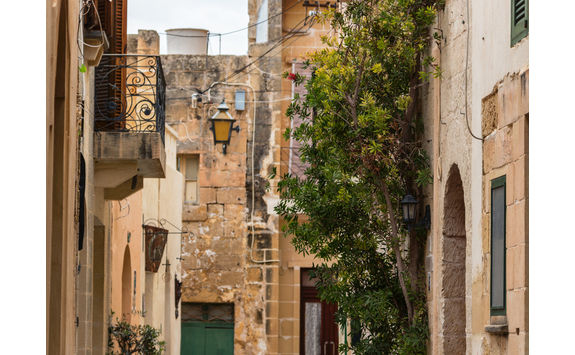 traditional village street gozo