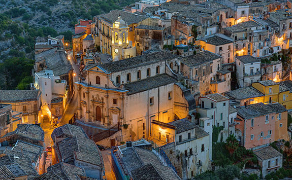 Sicily at dusk
