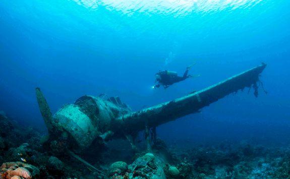 WWII sunken airplane wreck