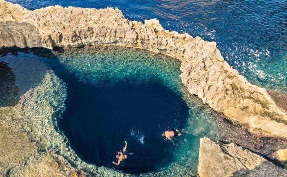 blue hole azure