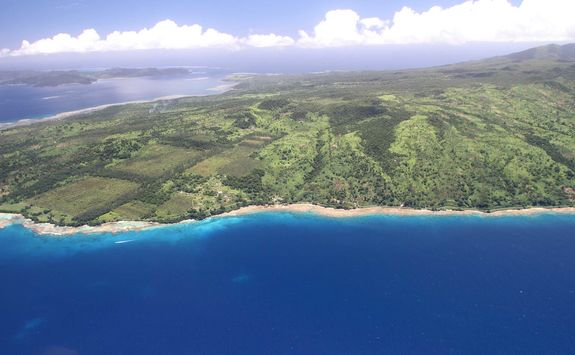 aerial taveuni island