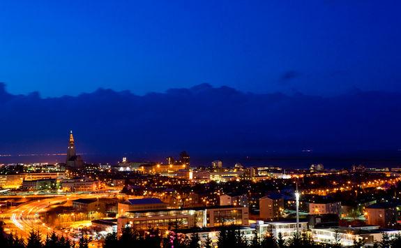 reykjavik night scene
