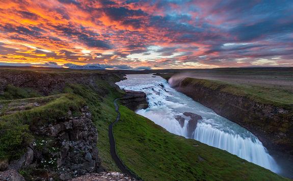 golden circle waterfall
