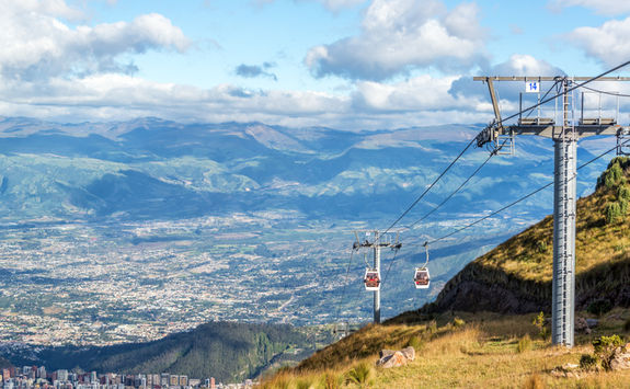 quito cable car and view
