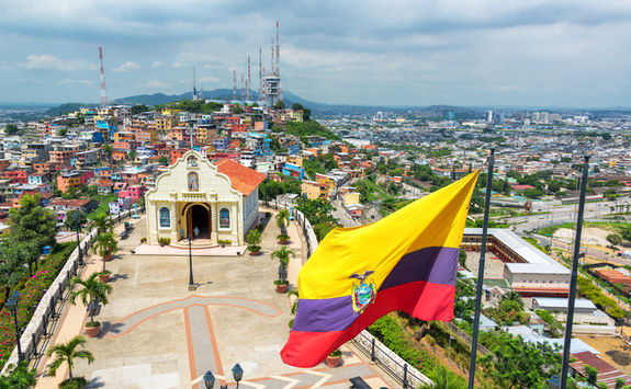 guayaquil view and church