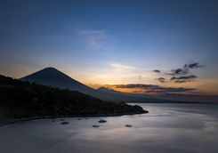 Sunrise over Agung Volcano