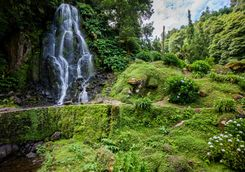 Waterfall on Sao Miguel island