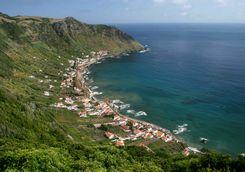 Town on Santa Maria island