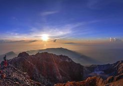Sunrise over Gunung Rinjani Volcano