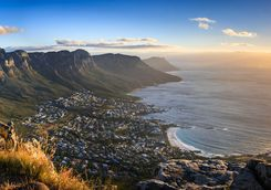 View of sunset from Table Mountain Africa