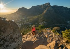 Hiking Lions Head in Cape Town at sunrise