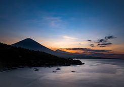 Sunset over Mount Ayung