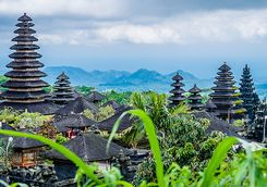 Temple view over Ubud