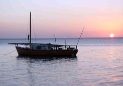 sunset boat sail africa