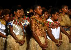 fijian people singing