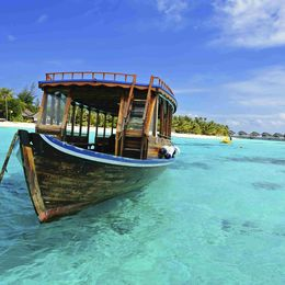 Dhoni Boat in the Maldives