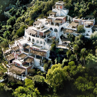 Aerial view of Hotel Raya, luxury hotel in Italy