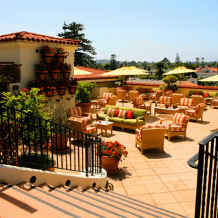 Roof terrace at Canary Hotel, luxury hotel in Santa Barbara
