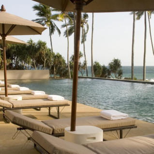 The pool at Amanwella, luxury hotel in Sri Lanka